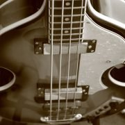 Bass guitar like the one played by Paul McCartney of the Beatles