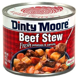Bargain brand Dinty Moore in a Can